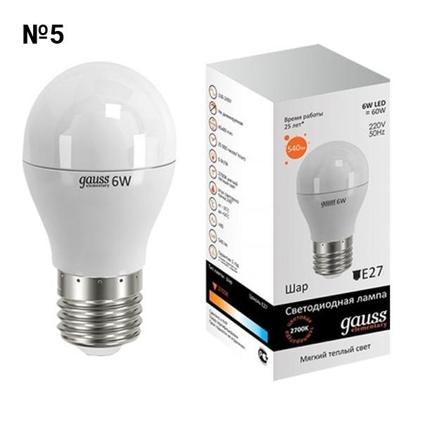 №05. Светодиодная лампа GAUSS LED