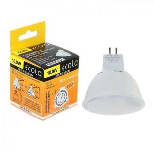 Лампа светодиодная ecola MR 16 м.с. 10Вт, 4200 k