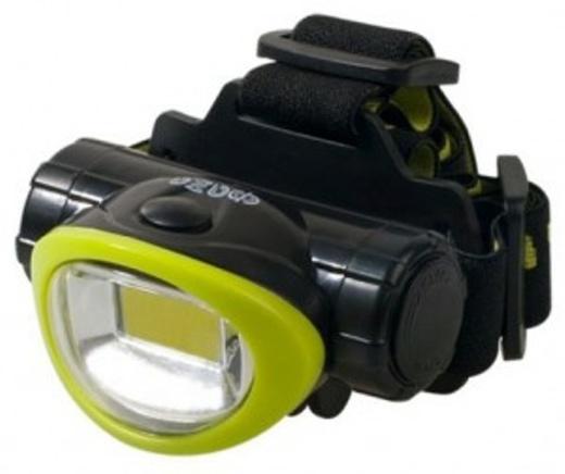 №4. ФАЗА фонарь налобный H5-L3W (3xR03) 1св/д COB 3W (170lm), зел+чер./пласт+металл, влагозащ, 3 реж, BL